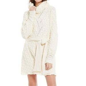 NWT FREE PEOPLE CABLE KNIT BELTED SWEATER DRESS